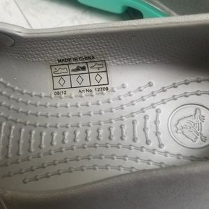 CROCS Shoes - New Crocs Silver Duet Sport Mary Jane Size 8